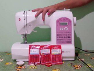 preparare una macchina da cucire