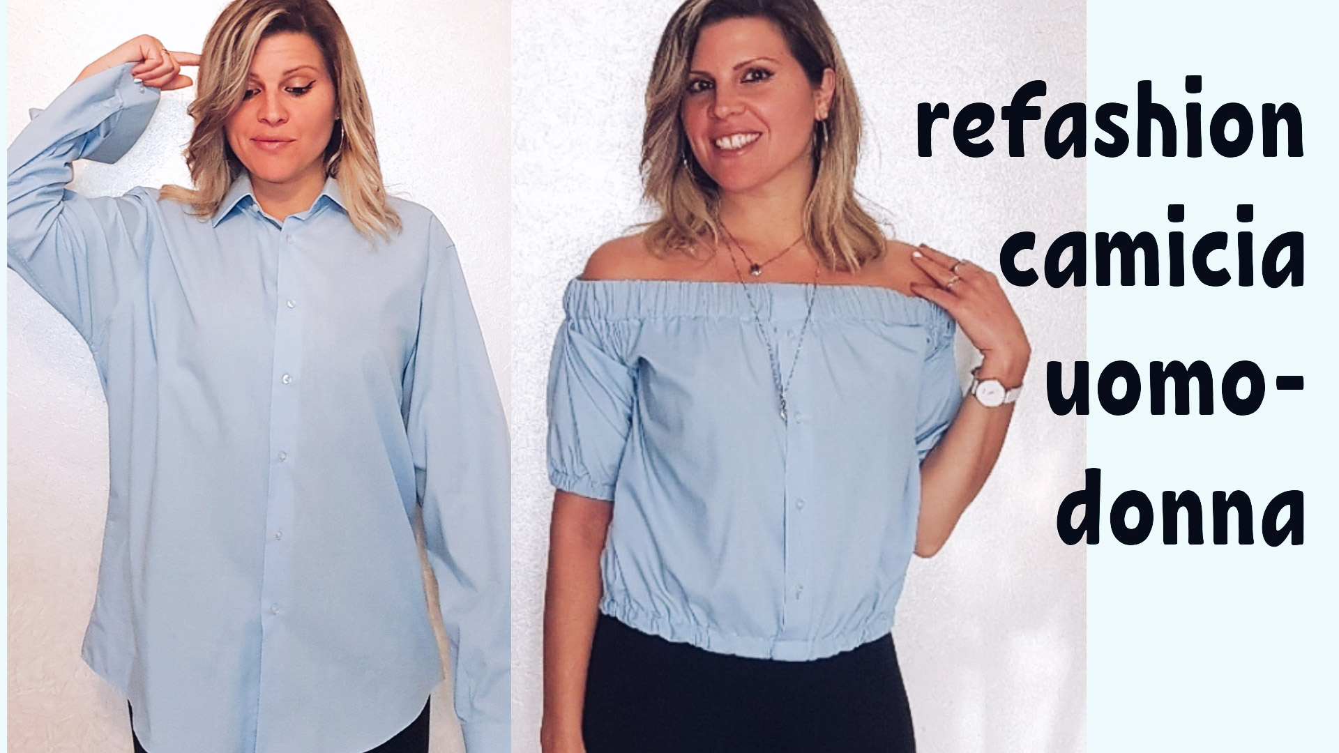 refashion camicia uomo donna – cucito fai da te 40 (2)